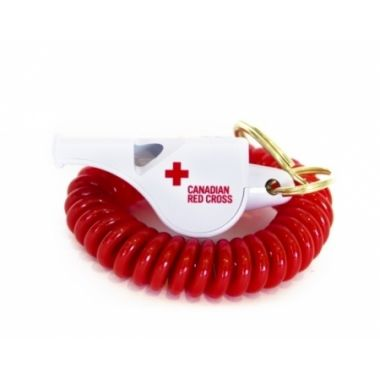 CANADIAN RED CROSS FOX 40 CLASSIC WHISTLE WITH FLEX COIL
