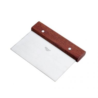 Browne® Stainless Steel Dough Scraper w/Wood Handle - RFS016/574269
