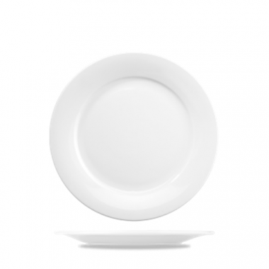 "Churchill® Art de Cuisine™ Mid-Rim Plate, White, 8"" (6/CS)- RFS1063/ZCAPO81"