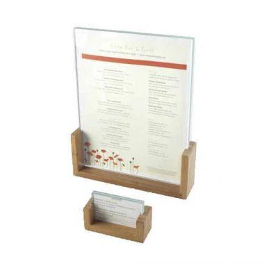"Cal-Mil® Bamboo Menu/Card Holder, 8.5"" x 1.5"" x 12"" (6/CS)- RFS471/1510-811-60"