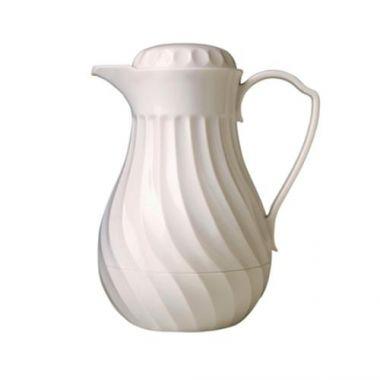 Vollrath® Hot-N-Cold Swirl Beverage Server, White, 20 oz- RFS1900/52162