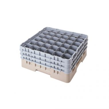 "Cambro® Camrack Glass Rack, Soft Gray, 36-Compartment, 7-3/4"" Deep- RFS025/36S738151"