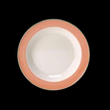 "Steelite® Freedom™ Raised-Rim Plate, Red, 8-3/8"" - RFS066/11140123"