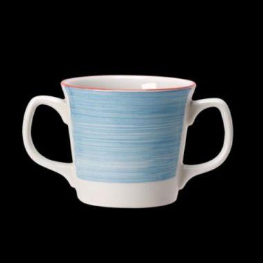 Steelite® Freedom™ Double-Handled Mug, Blue, 10 oz- RFS066/15310149