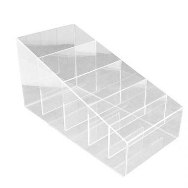 Plastic Plus® Sloped Straw Caddy, 5 Compartments - RFS1021/STRAW
