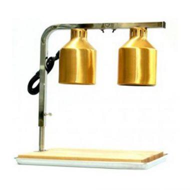 Gann & Bartrol® Heat Lamp w/Wood Board & Red Bulbs - RFS009/HFL-2RB