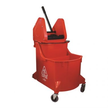Globe® Dual Chamber DP Bucket W/Wringer, Red - RFS2215/5035R