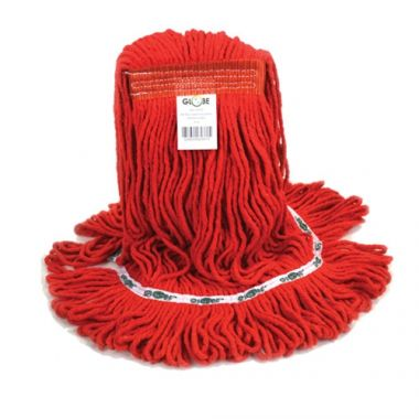 Globe® Synthetic Looped End Wet Mop, Narrow Band, Red, 20oz (PK/4) - RFS2215/5091R-NEW