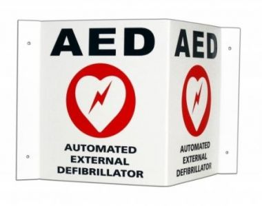 AED 3D Wall Sign and Labels Kit