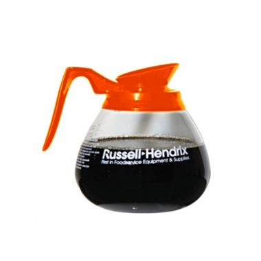 Wells Bloomfield® Glass Coffee Decanter w/ Russell Hendrix Logo, Orange, 10-12 Cup- RFS3052/4H-DCF891192O24