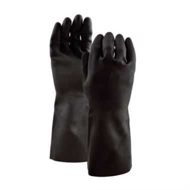 Watson Gloves® 360° Total Coverage™ 28mil Latex Gloves, Black, Size 9 - RFS1463/500-9