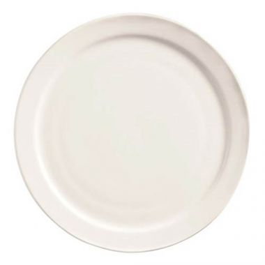 "World Tableware® Porcelana Narrow Rim Plate, White, 10 3/8"" (2DZ) - RFS663/840-440n-15"