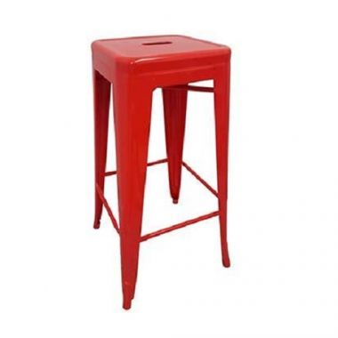 "Tolix® Backless Barstool, Metal, Red, 17"" x 17""x 30.25"" - RFS161/JTX-1801-RED"