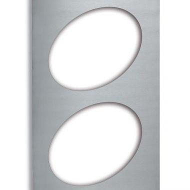 Vollrath® Miramar® Steam Table Pan Template / Adaptor Plate w/ 2 Oval Cutouts, Stainless Steel - RFS1900/8243214