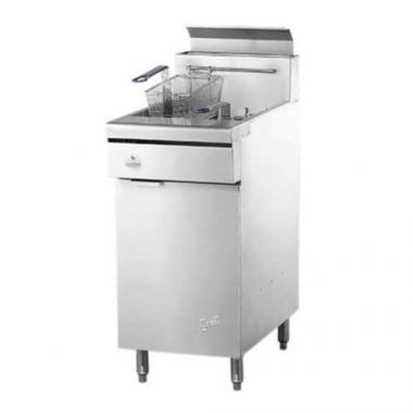 """Quest® Gas Fryer w/Casters, Natural Gas, 46.5"""" - RFS2163/110-FRYMV40(CST-NG)"""
