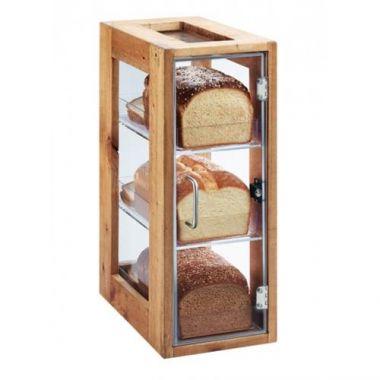 "Cal-Mil® Madera 3 Bin Vertical Bread Display, 20.5""- RFS471/1204-99"