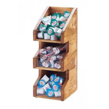 "Cal-Mil® Madera 3 Bin Vertical Condiment Organizers, 16""- RFS471/2053-99"