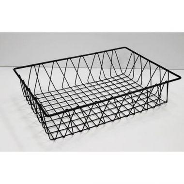 """G.E.T.® Rectangular Wire Pastry Basket, Black, 4"""" - RFS689/WB-954-SV"""