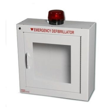 SURFACE MOUNT WALL CABINET WITH ALARM & STROBE SECURITY ENABLED