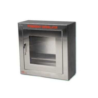 STAINLESS STEEL SURFACE MOUNT AED WALL CABINET