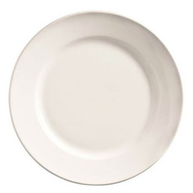 "World Tableware® Porcelana™ Rolled-Edge Plate, White, 9"" (2DZ)- RFS663/840-425R-25"