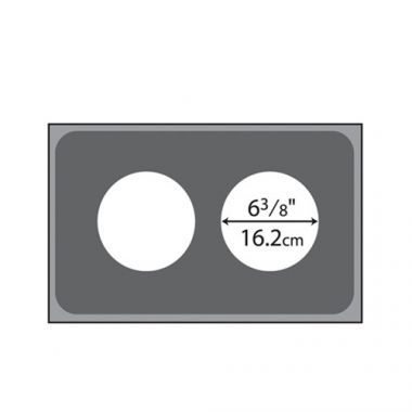 Vollrath® Steam Table Pan Template / Adaptor Plate w/ 2 Round Cutouts, Stainless  - RFS1900/19190