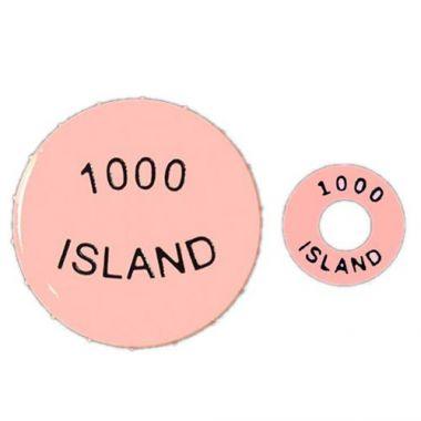 FIFO® Squeeze Bottle Identifiers,  3 Caps / 3 Rings, 1000 Island, Pink - RFS2827/53F-053