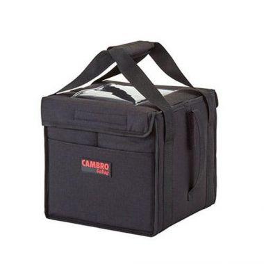 "Cambro® GoBag™ Folding Delivery Bag, Black, Small, 10"" x 10"" x 11""  - RFS025/GBD101011110"