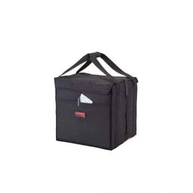 "Cambro® GoBag™ Folding Delivery Bag, Black, Medium, 12"" x 15"" x 15"" - RFS025/GBD121515110"