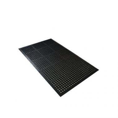"Economy Anti-Fatigue Mat, Black, 36"" x 60"" x 3/8""- RFS1500/AFD3660BN"