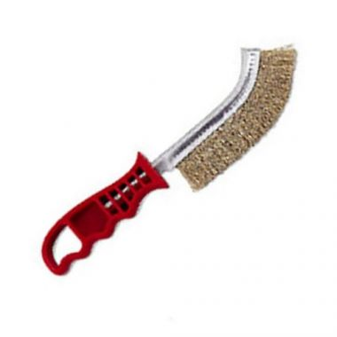 "Browne® Broiler/Grill Brush w/ Stiff Wire Bristles, 11"" - RFS016/4203"