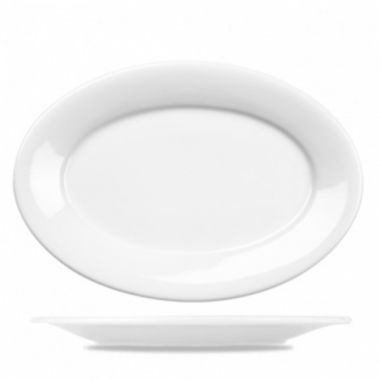 """Churchill® Art de Cuisine™ Oval Porcelain Plate, White, 12"""" (6/CS) - RFS1063/ZCAPOV41"""