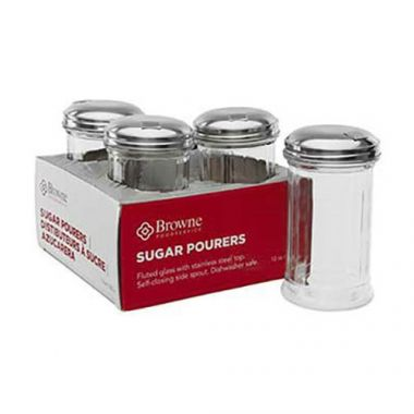 Browne® Glass Sugar Pourer, Clear, 12 oz, (4PK) - RFS016/575228