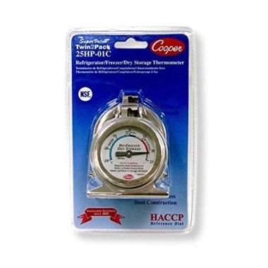 "Cooper Atkins® HACCP Professional Refrigerator/Freezer Thermometer -20/80°F, 2"" (2PK)- RFS3358/25HP-01C-2"