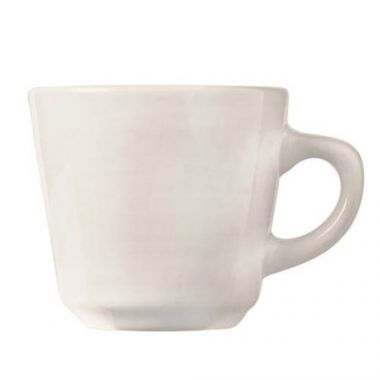 World Tableware® Porcelana™ Tall Coffee/Tea Cup, White, 7 oz (3DZ) - RFS663/840-110-004