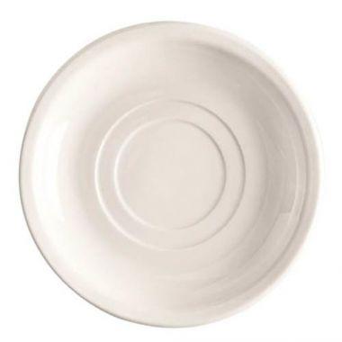 "World Tableware® Porcelana™ Double Well Saucer, White, 5.5"" (3DZ) - RFS663/840-215-005"