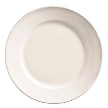 "World Tableware® Porcelana™ Rolled-Edge Wide Rim Plate, White, 12"" (1DZ)- RFS663/840-445R-12"