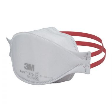 3M Aura Health Care Particulate Respirator and Surgical Mask, 1870+, N95 - Pack of 10