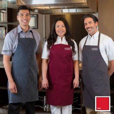 Premium® Standard Bib Apron w/ Pockets, Red - RFS274/1050(RED)