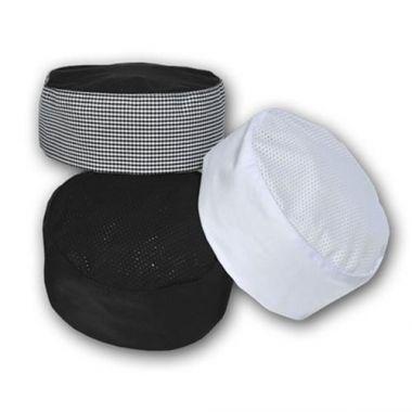 Premium Uniforms® Pill Box Cap w/Mesh Top, White - RFS274/1635(WHT)