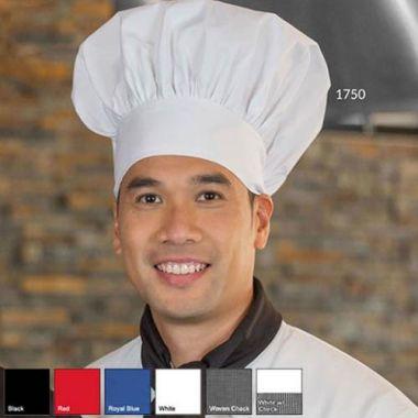 Premium Uniforms® Poly Cotton Chef Hat, Black - RFS274/1750(BLK)
