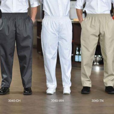 Premium Uniforms® Poly/Cotton Baggy Chef Pants, Checkered, Large - RFS274/3040(CHECK-L)