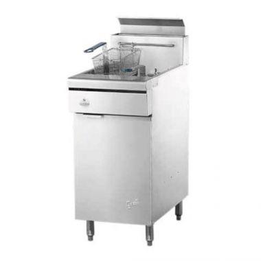 """Quest® Gas Fryer w/Casters, Propane, 46.5"""" - RFS2163/110-FRYMV40(CST-LP)"""