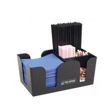 San Jamar® Bar Caddy, Black - RFS702/B400BK