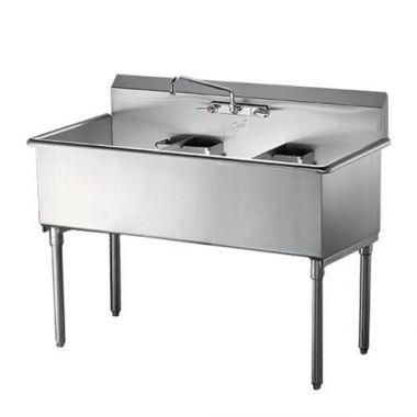 """Quest® Triple Heavy Duty Stainless Steel Sinks, 16"""" Sinks - RFS2163/123-SE32216"""