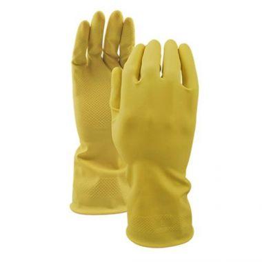 Watson Gloves® 360° Total Coverage™ 16Mil Latex Gloves, Yellow, Medium - RFS1463/3333-M