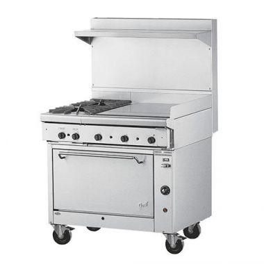 "Quest® Qgr-1 Series Single Oven Range w/ 2 Burners and 24"" Griddle, Propane, 36"" - RFS2163/100-120BFTO(LP)"