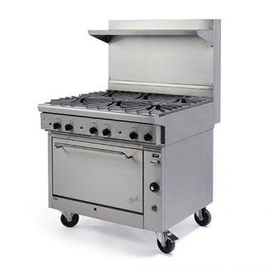 "Quest® Qgr-1 Series Single Oven Range w/ 6 Burners, Propane, 36"" - RFS2163/100-16OBOOO(LP)"