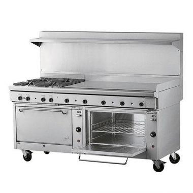 """Quest® Qgr-2 Series, Double Oven Range w/ 72"""" Griddle, Propane, 72"""" - RFS2163/100-2FRYTOP(LP)"""