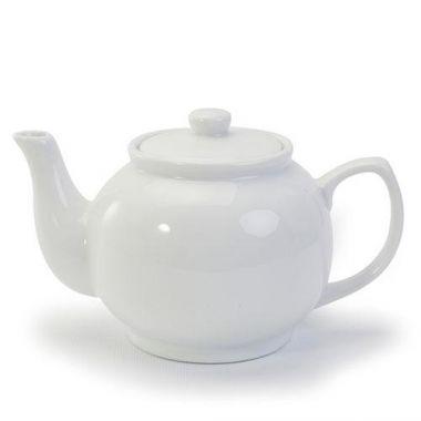 Danesco® Bia Teapot, White, 18.6 oz - RFS055/907023WH